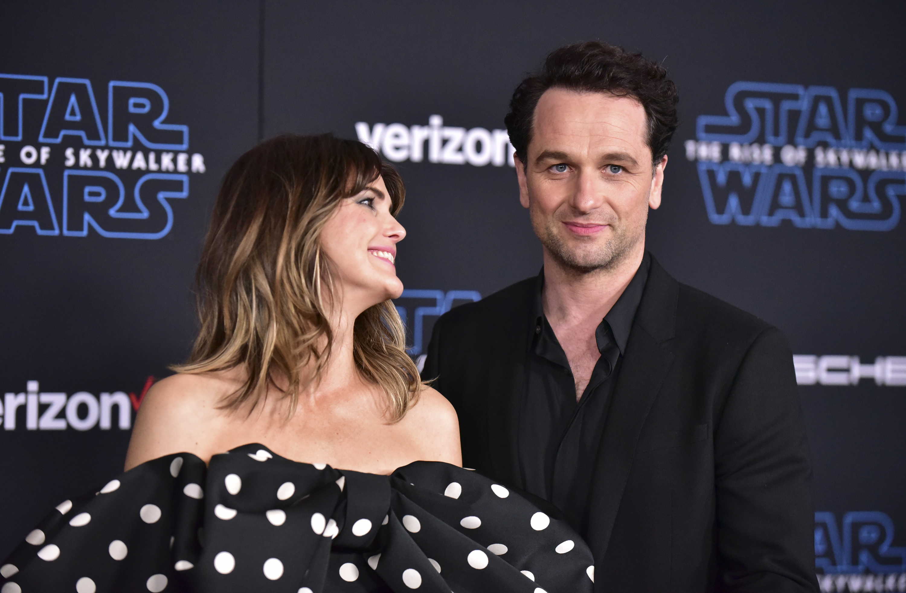 Keri Russell and Matthew Rhys at an event for Star Wars: Episode IX - The Rise of Skywalker (2019)
