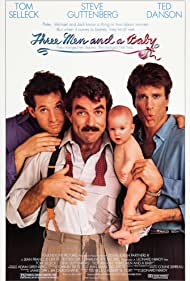 Steve Guttenberg, Tom Selleck, Ted Danson, Lisa Blair, and Michelle Blair in 3 Men and a Baby (1987)