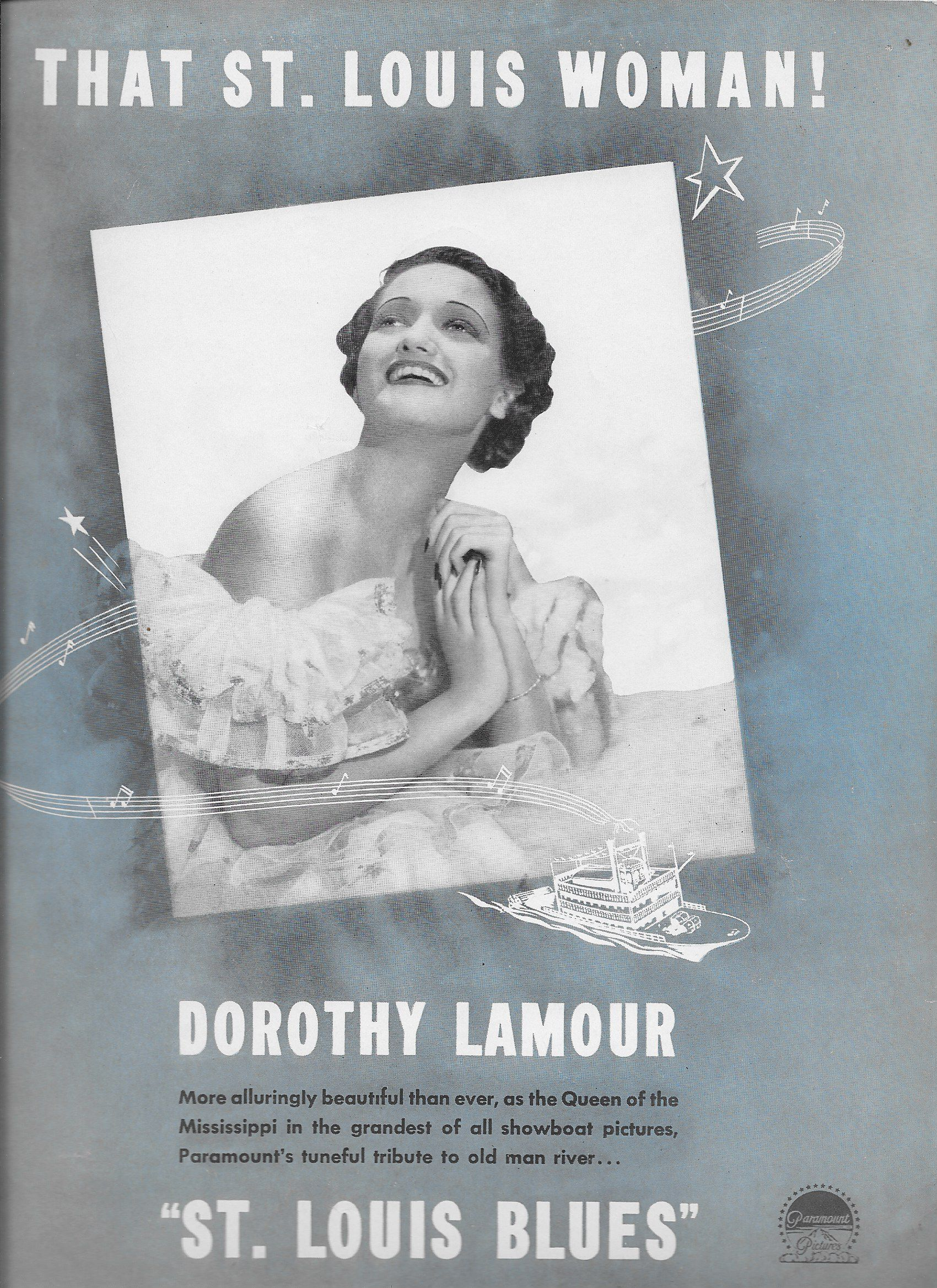 Dorothy Lamour in St. Louis Blues (1939)