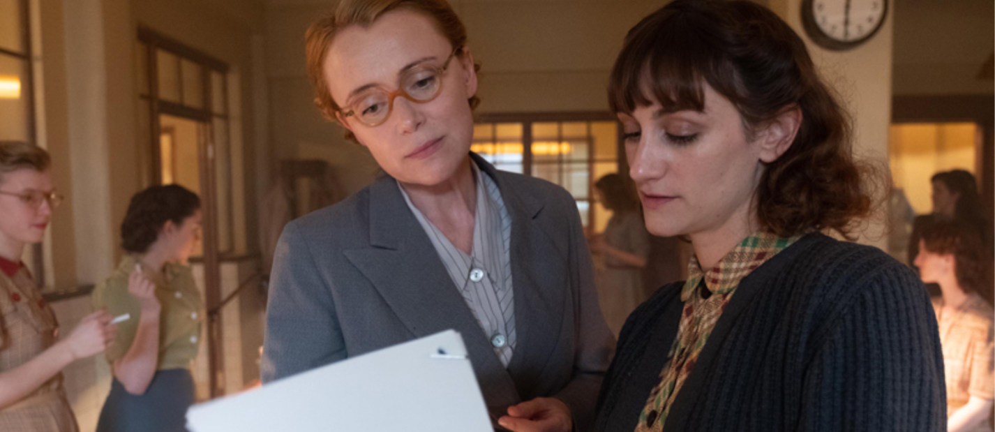Still of Cara Horgan and Keeley Hawes in Traitors (2019)