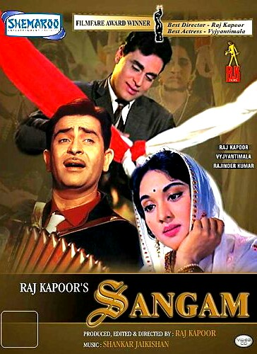 Sangam 1964 Hindi Movie 810MB HDRip ESubs Download