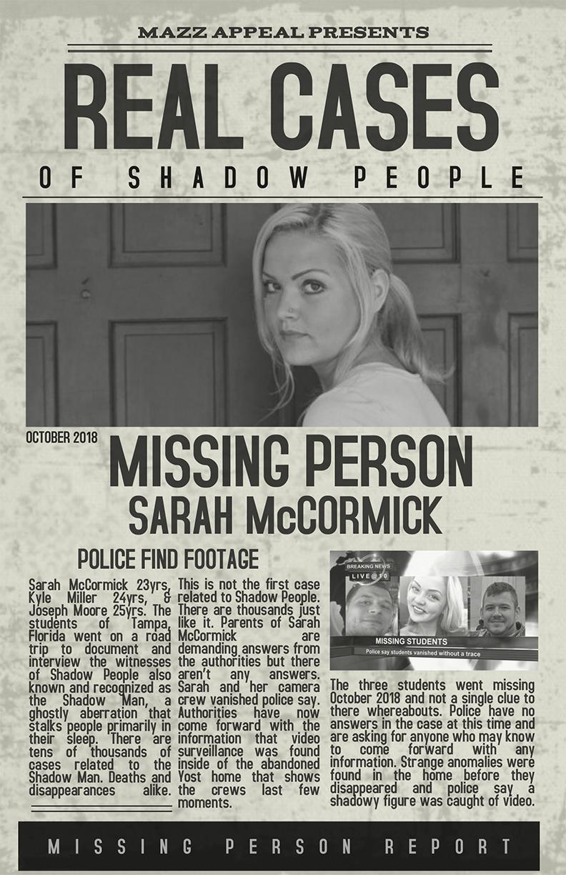Real Cases of Shadow People The Sarah McCormick Story (2019