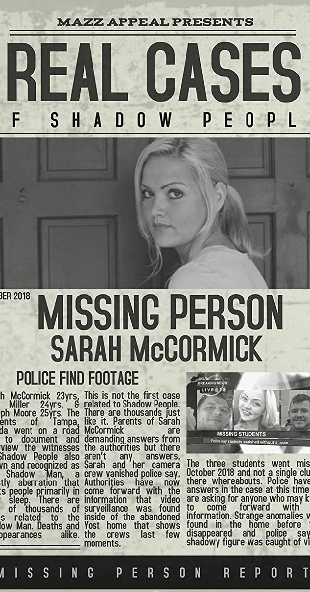 Subtitle of Real Cases of Shadow People The Sarah McCormick Story