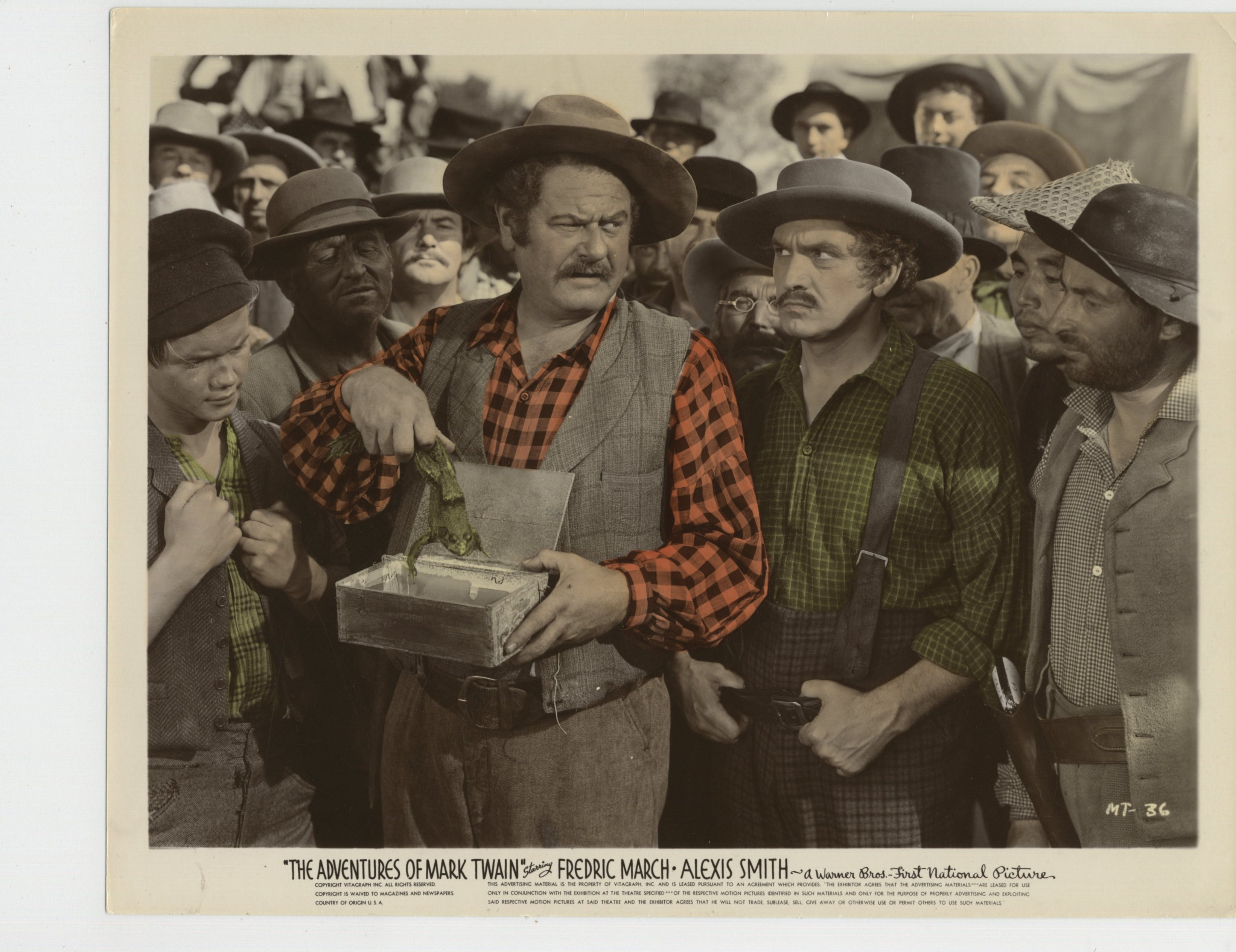 Alan Hale, Henry Blair, Chester Conklin, Willie Fung, George Haywood, Robert Herrick, Gene Holland, Fredric March, Charles McAvoy, and John 'Skins' Miller in The Adventures of Mark Twain (1944)