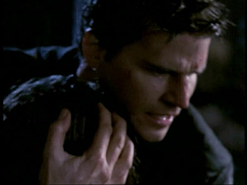 David Boreanaz and Eliza Dushku in Angel (1999)