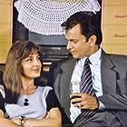 Kitu Gidwani and Rohit Roy in Swabhimaan (1995)