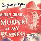 Carol Andrews, Hugh Beaumont, and Cheryl Walker in Murder Is My Business (1946)