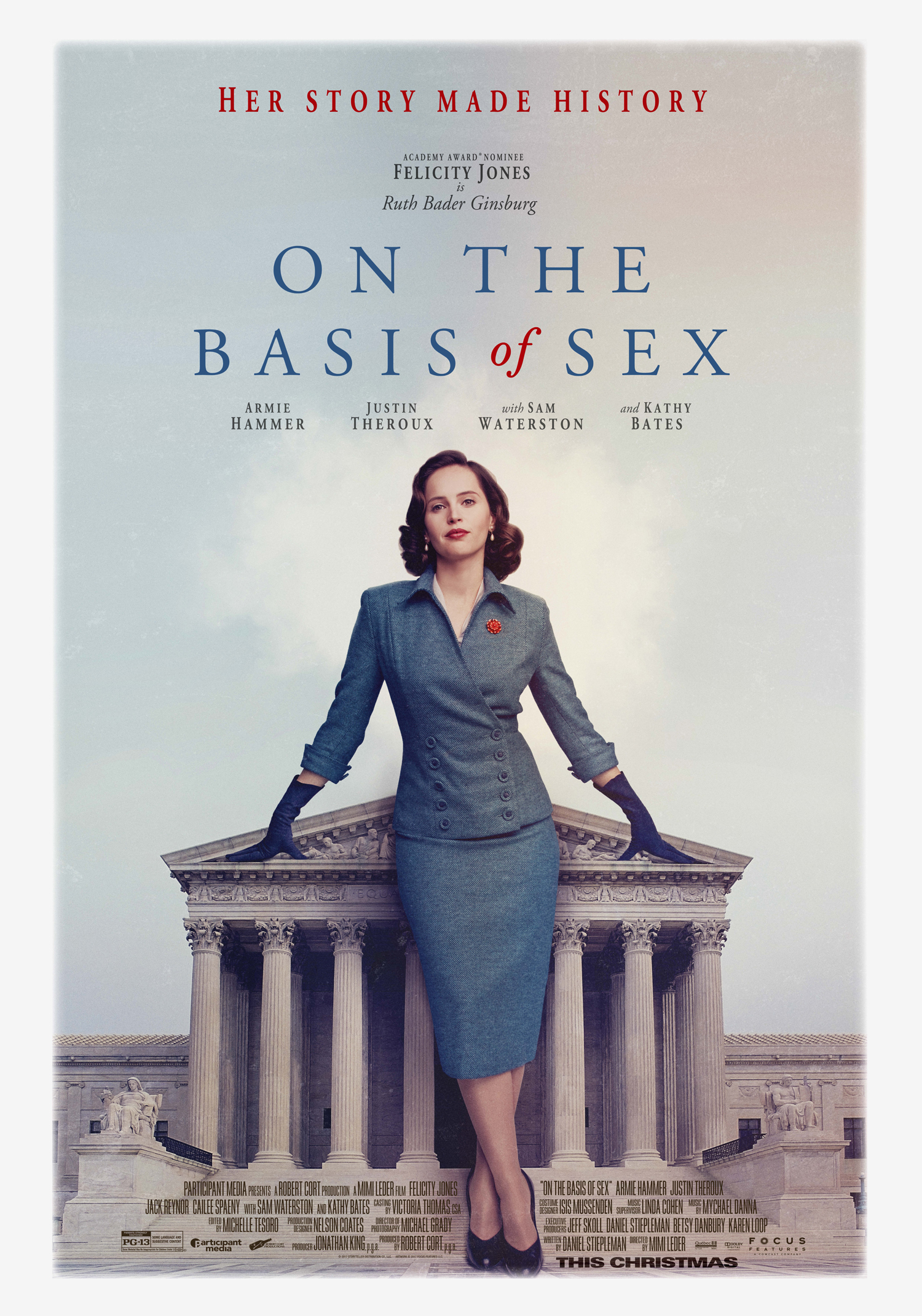 Image result for on the basis of sex movie poster