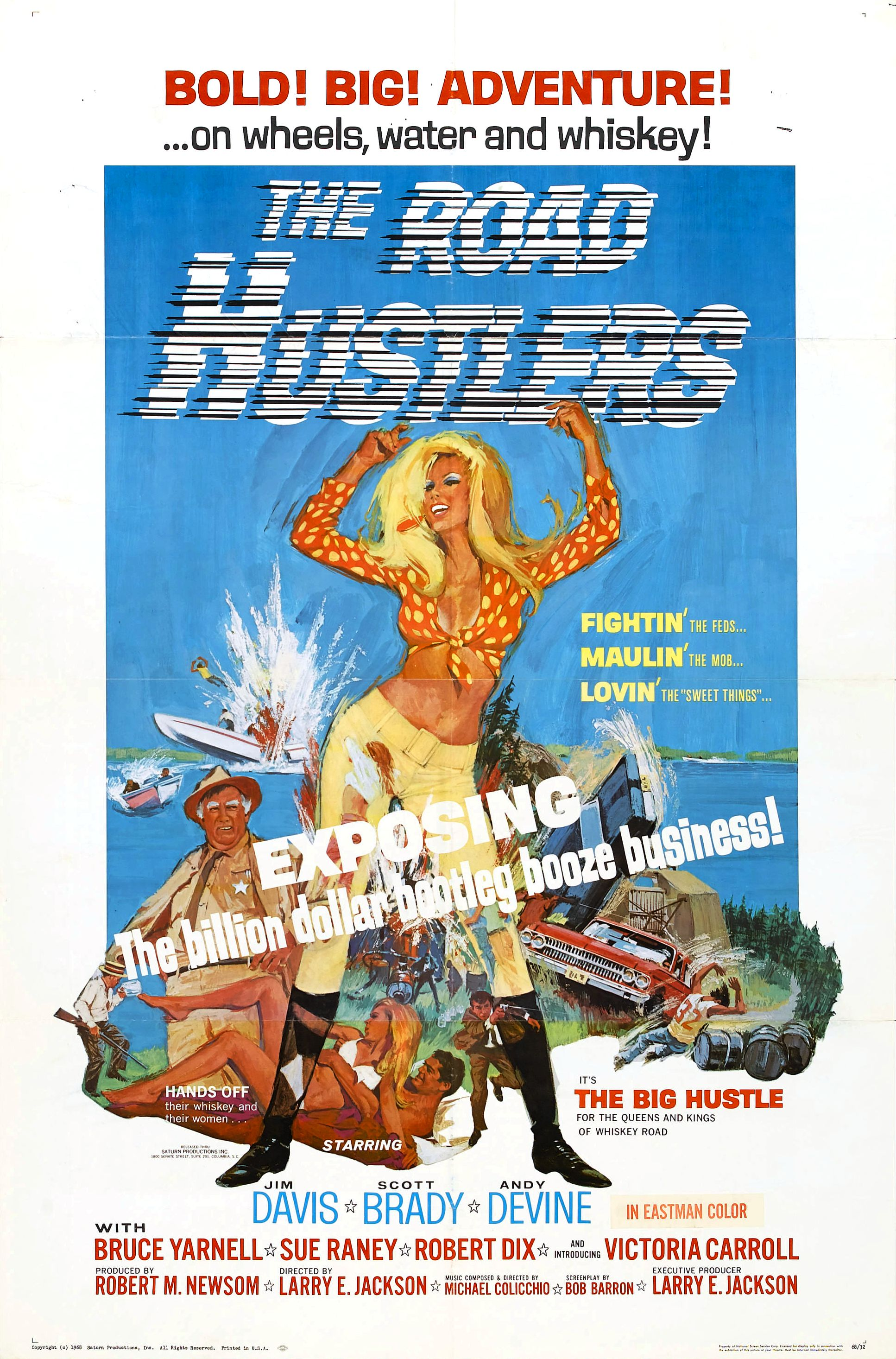 1968 Movie Poster The Road Hustlers