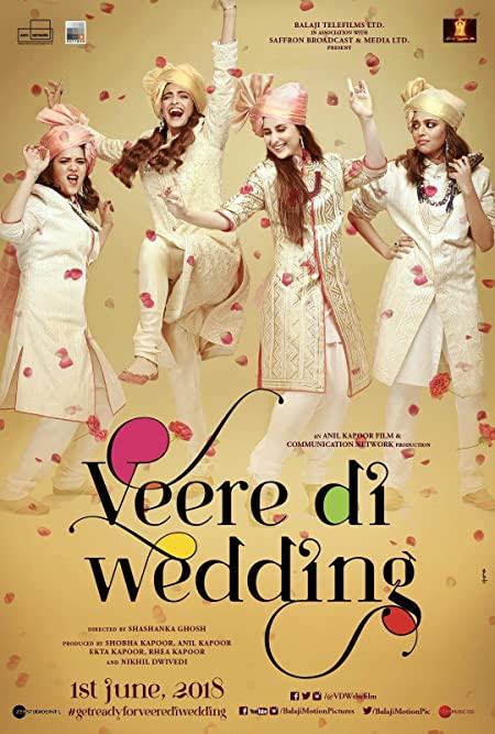 Veere Di Wedding (2018) Hindi WEB-DL - 480P   720P - x264 - 400MB   1GB - Download & Watch Online  Movie Poster - mlsbd
