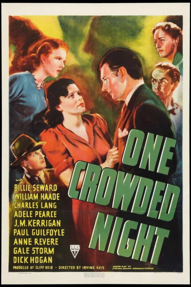 Paul Guilfoyle, Pamela Blake, Charles Lang, Anne Revere, and Billie Seward in One Crowded Night (1940)
