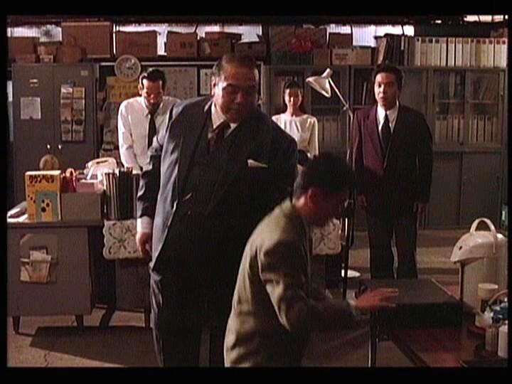 Kogan Ashiya, Yoshiyuki Omori, and Megumi Morisaki in 893 Taxi (1994)