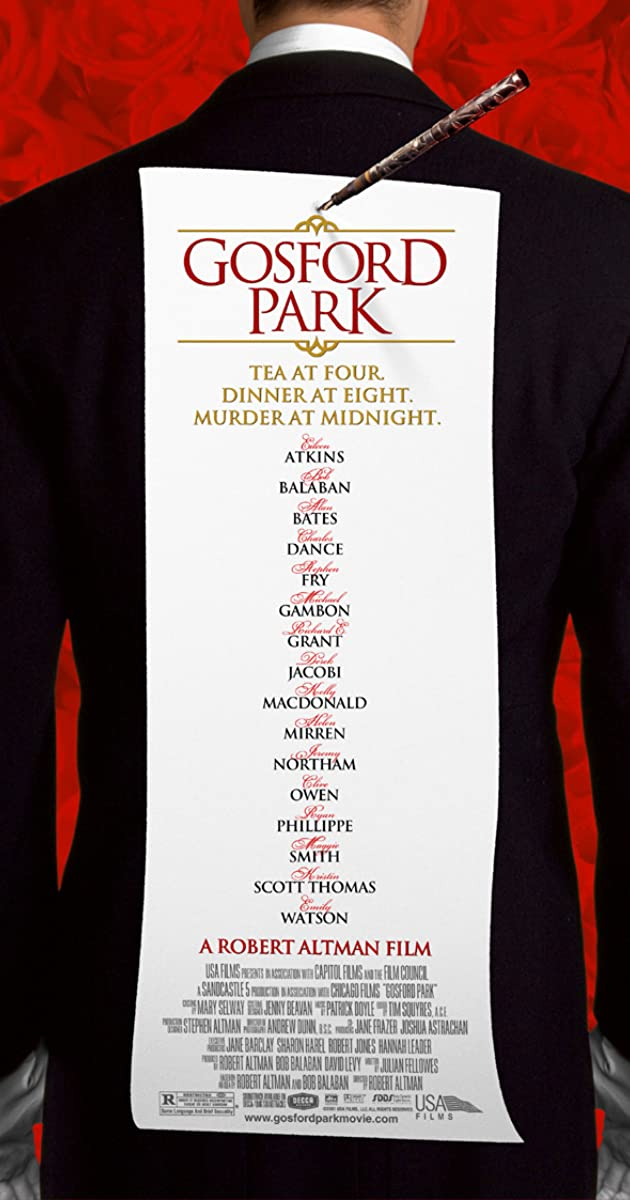 Free Watch Movie Gosford Park (2001)