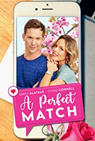 Chad Connell and Emily Alatalo in A Perfect Match (2021)