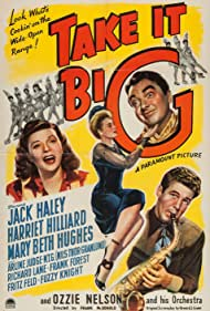 Jack Haley, Harriet Nelson, Mary Beth Hughes, and Ozzie Nelson in Take It Big (1944)