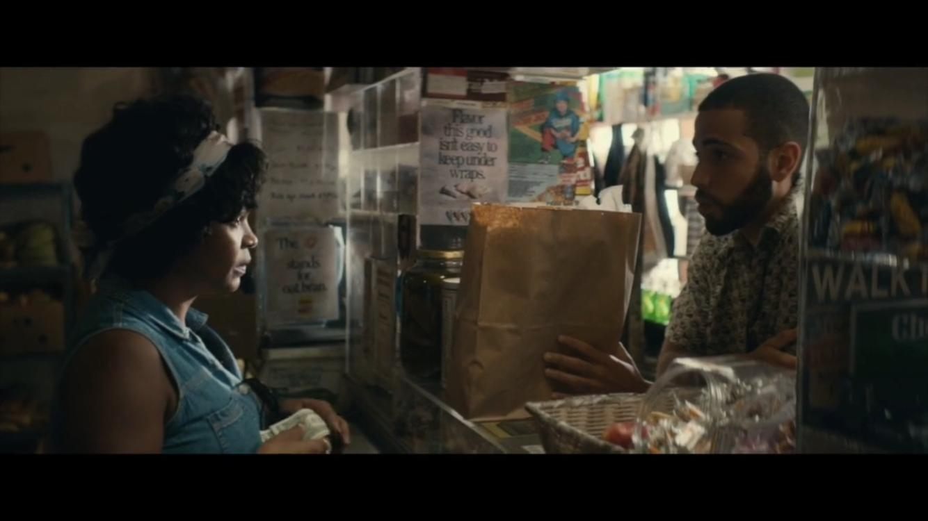 Nia Long and Abraham Infante in Roxanne Roxanne (2017)