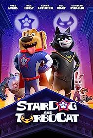 Nick Frost, Bill Nighy, Charli D'Amelio, Luke Evans, and Gemma Arterton in StarDog and TurboCat (2019)
