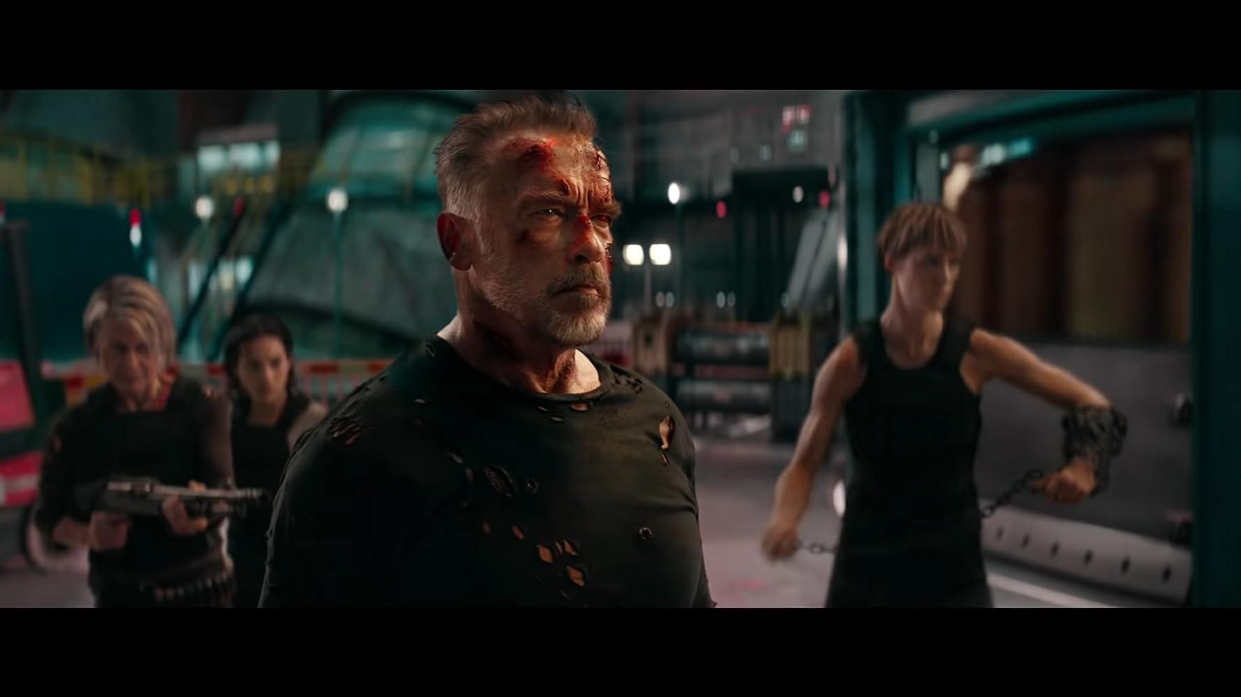 /></figure>  <p>En conclusión, tenemos una película palomera, con escenas de acción disfrutables y buenas actuaciones, pero con un guión repetitivo y soso, que no deja mucho a la imaginación y que por momentos se burla del espectador.</p>  <p>¿Recomendable? Si y no. «Terminator: Dark Fate» representa una mejora significativa sobre sus predecesores inmediatos, incluso si carece del poderío emocionante que identificaba a las mejores entregas de la franquicia.</p>  <figure class=