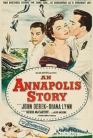 John Derek, Kevin McCarthy, and Diana Lynn in An Annapolis Story (1955)