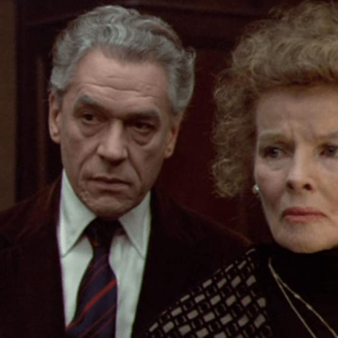 Katharine Hepburn and Paul Scofield in A Delicate Balance (1973)