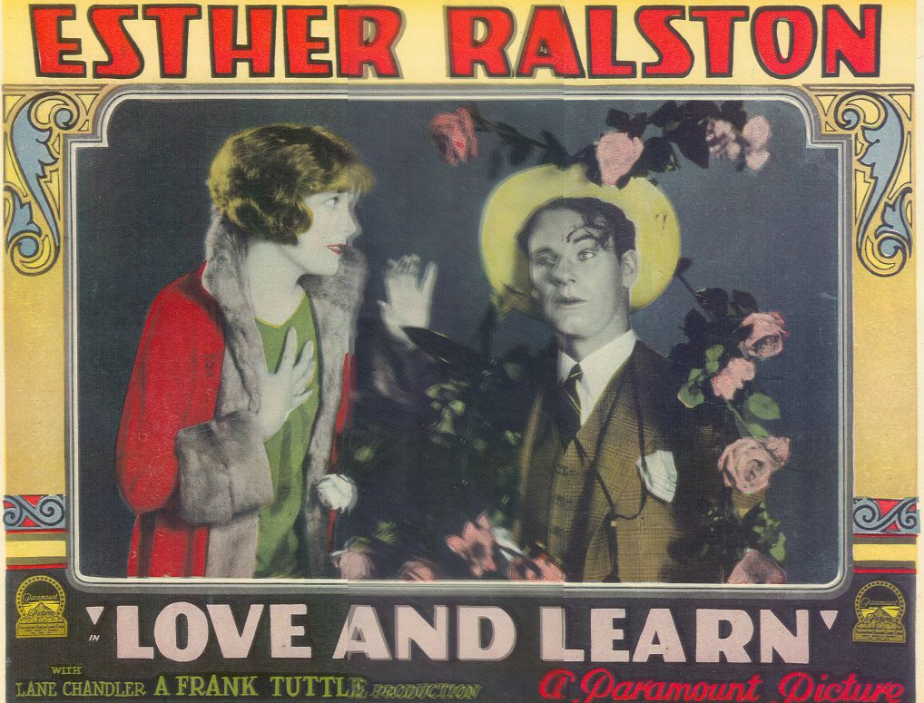Lane Chandler and Esther Ralston in Love and Learn (1928)