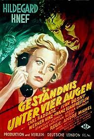 Ivan Desny, Hildegard Knef, and Carl Raddatz in Geständnis unter vier Augen (1954)