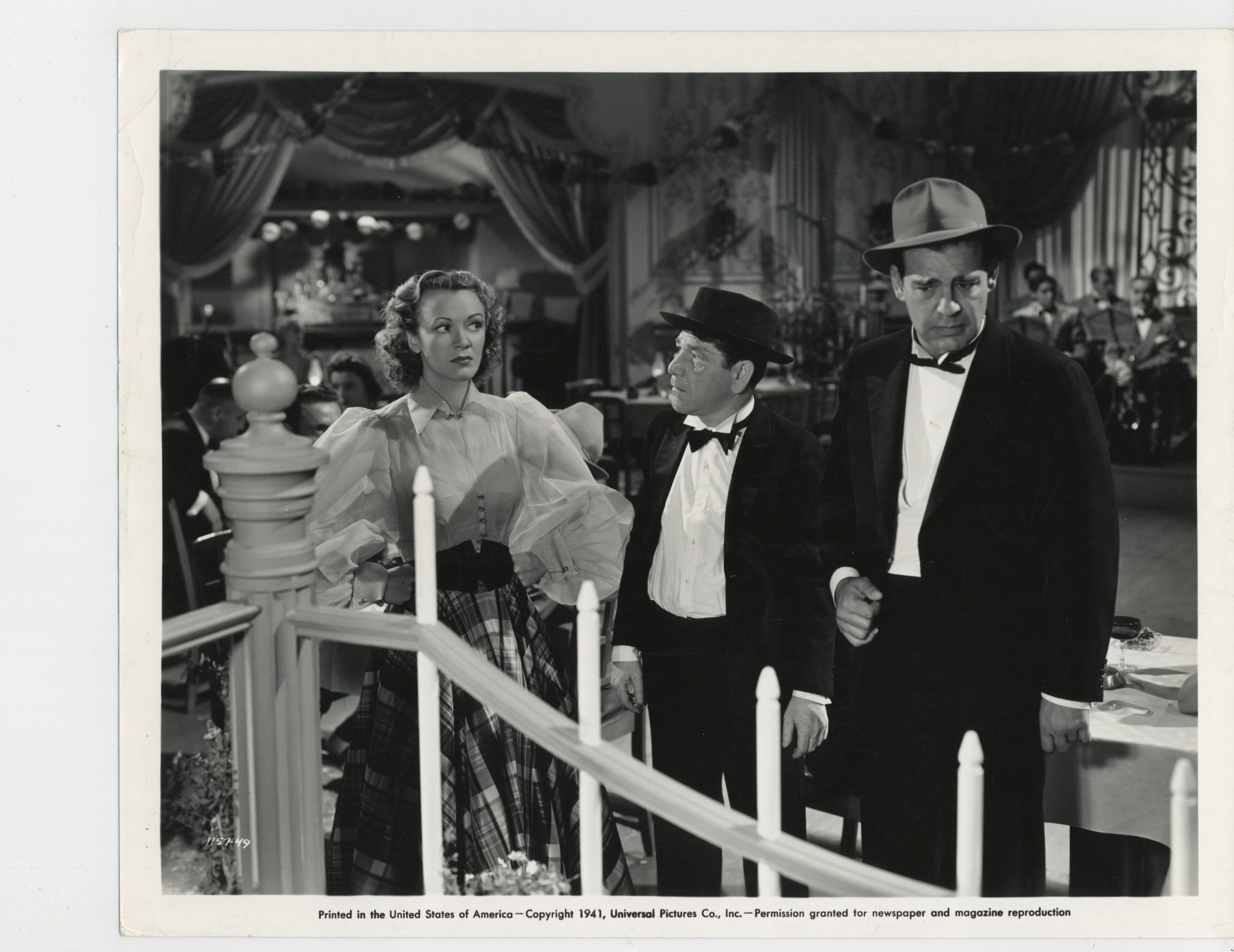 Eve Arden, Lon Chaney Jr., and Shemp Howard in San Antonio Rose (1941)