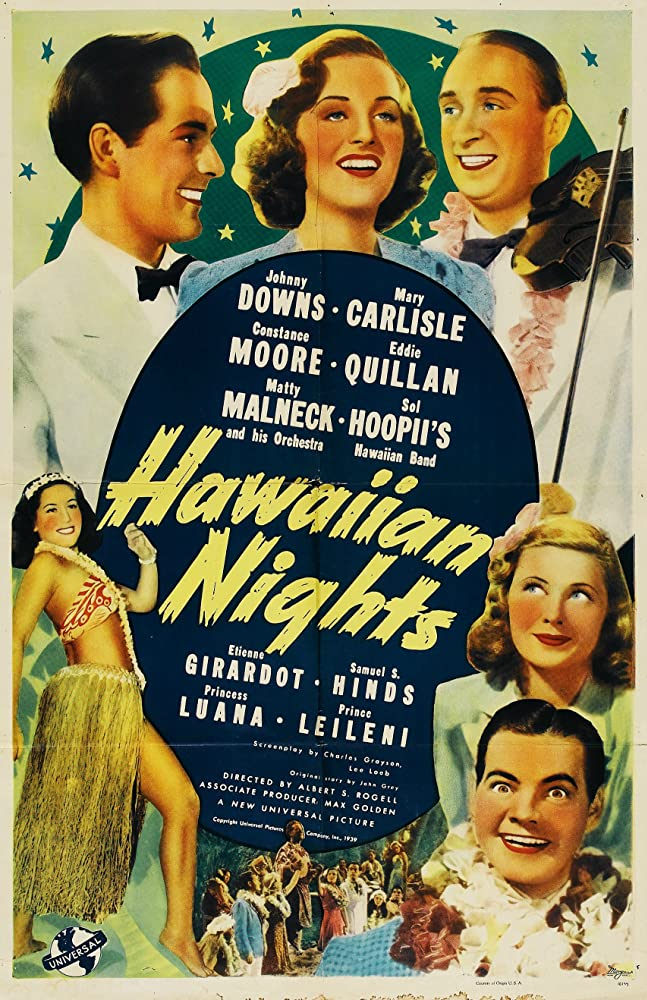 Mary Carlisle, Johnny Downs, Princess Luana, Constance Moore, and Eddie Quillan in Hawaiian Nights (1939)