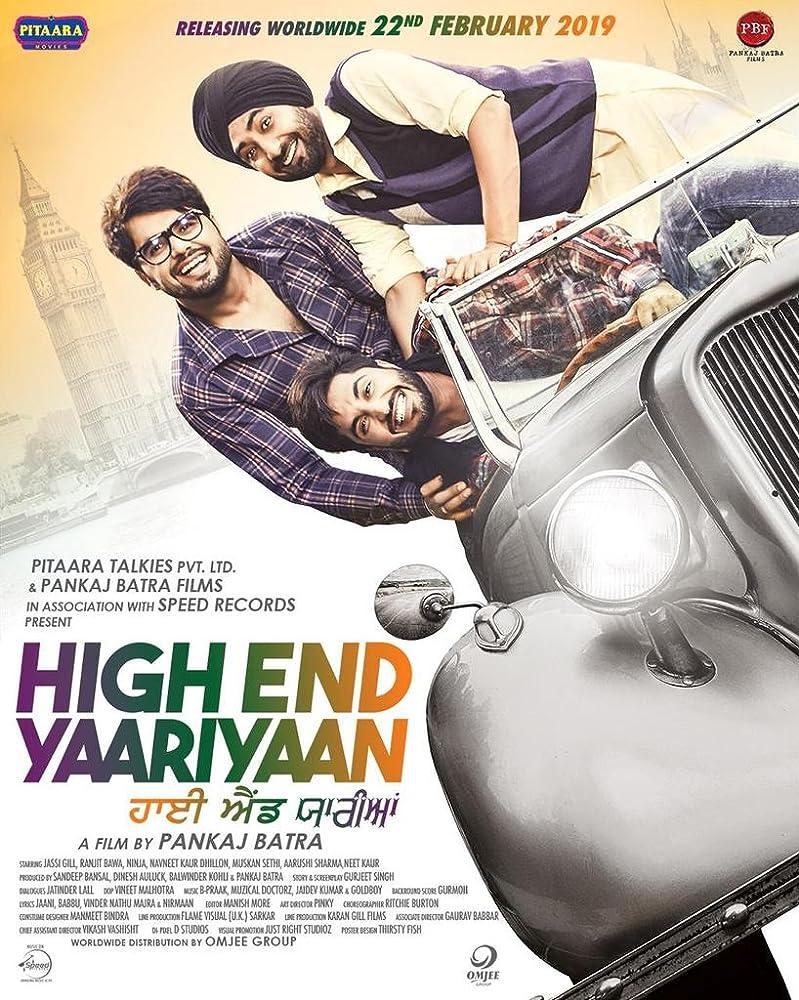 High End Yaariyaan 2019 Punjabi 480p SDTV AVC DD2.0 download full movie