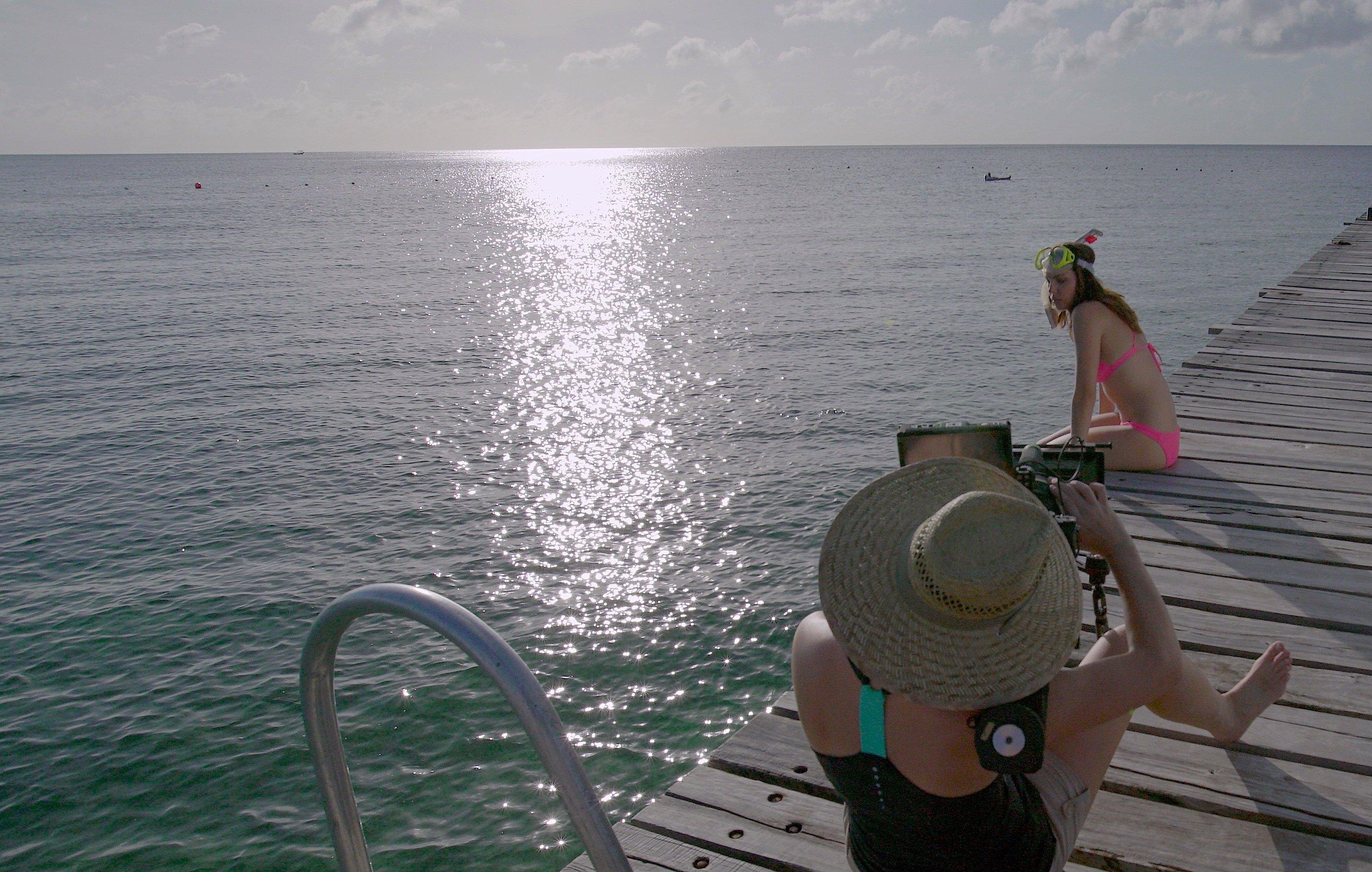 Kimberly Leemans and Fiorella Occhipinti in The Big Swim (2016)