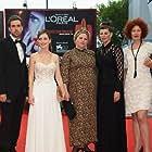 Red carpet - Venice Film Festival.  Ido Samuel, Yiftach Klein, Hadas Yaron, Rama Burshtein, Irit Sheleg, Razia Israeli, Chaim Sharir