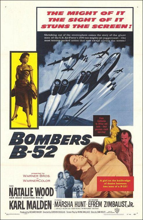 Natalie Wood, Karl Malden, and Efrem Zimbalist Jr. in Bombers B-52 (1957)