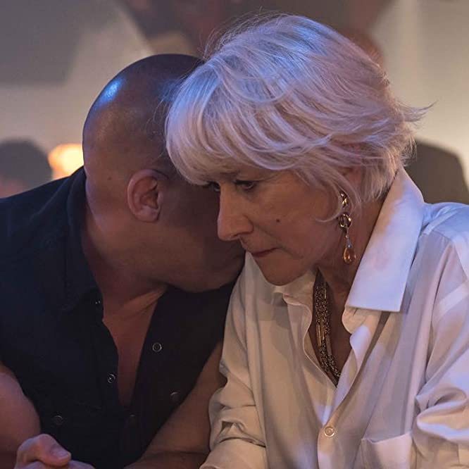 Helen Mirren and Vin Diesel in The Fate of the Furious (2017)