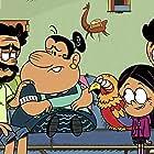 Carlos Alazraqui, Eugenio Derbez, Sonia Manzano, Carlos PenaVega, and Izabella Alvarez in Away Game/Monster Cash (2020)