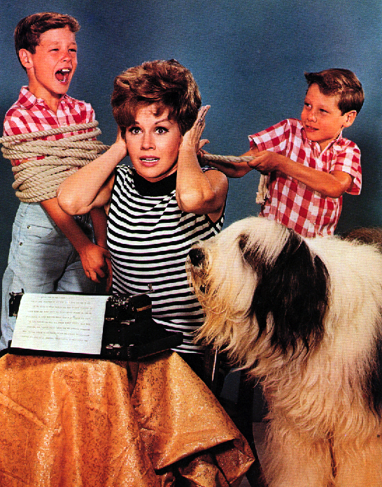 Pat Crowley, Jeff Fithian, Joe Fithian, and Lord Nelson in Please Don't Eat the Daisies (1965)