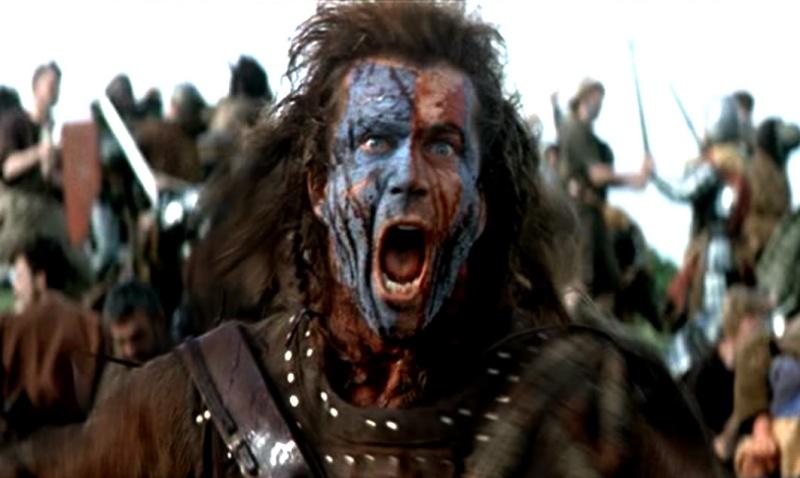 Mel Gibson in Braveheart 1995