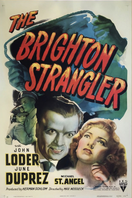June Duprez, John Loder, and Michael St. Angel in The Brighton Strangler (1945)