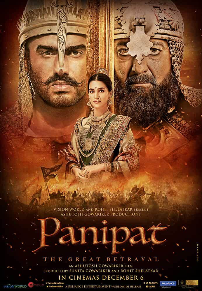 Panipat (2019) Full Movie Download In Hindi Bluray 480p [450MB] | 720p [1.2GB] | 1080p [2.6GB]