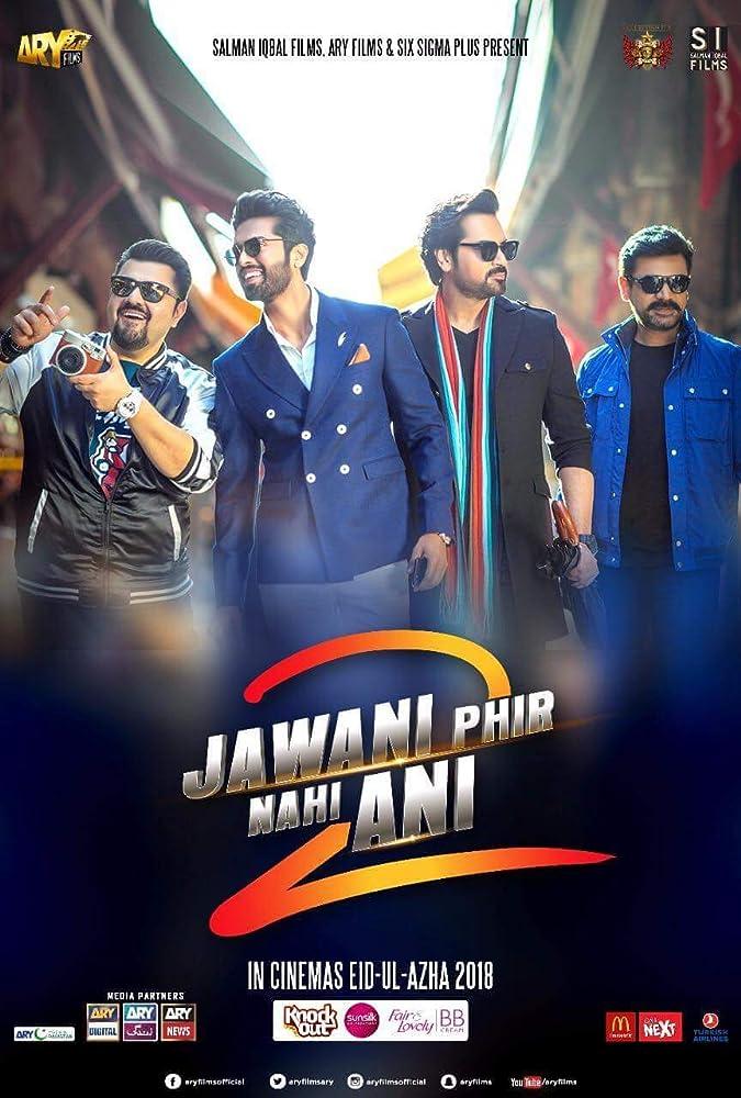 Jawani Phir Nahi Ani 2 (2018) Urdu 480p HDTVRip x264 AAC Full  (550MB) Full Movie Download
