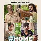 Naslen, Indrans, Manju Pillai, and Sreenath Bhasi in #Home (2021)