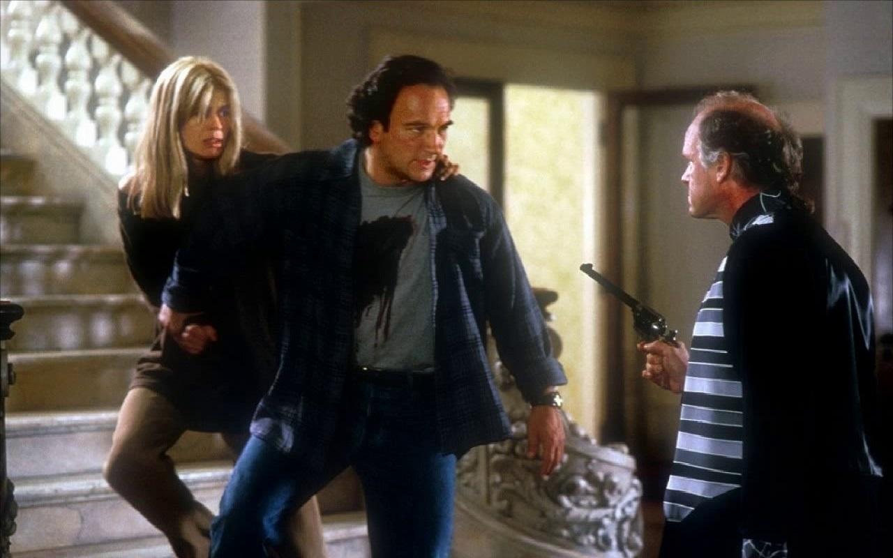 Linda Hamilton, Jim Belushi, and Drew Snyder in Separate Lives (1995)