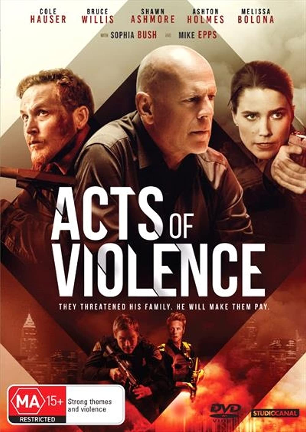 Poster film Acts of Violence.