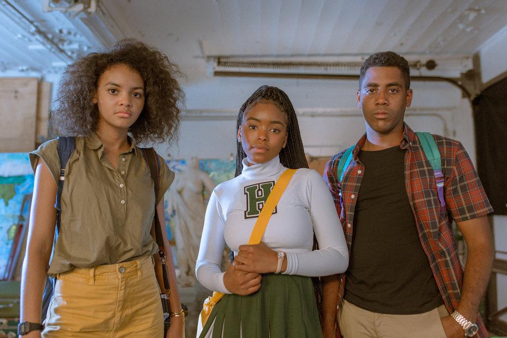 Lovie Simone, Jharrel Jerome, and Celeste O'Connor in Selah and The Spades (2019)