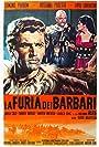 Livio Lorenzon, Rossana Podestà, and Edmund Purdom in La furia dei barbari (1960)