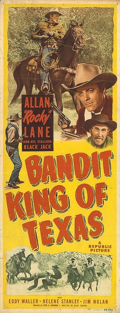 Allan Lane, Eddy Waller, and Black Jack in Bandit King of Texas (1949)