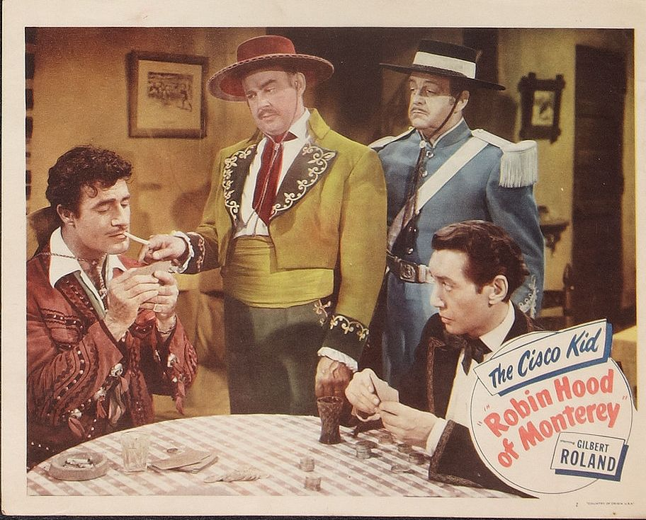 Pedro de Cordoba, Thornton Edwards, George Navarro, and Gilbert Roland in Robin Hood of Monterey (1947)