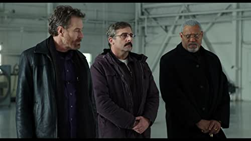 """Former Navy Corps medic Larry """"Doc"""" Shepherd (Steve Carell) re-unites with ex-Marine Sal Nealon (Bryan Cranston) and Reverend Richard Mueller (Laurence Fishburne) to bury Doc's son, a young Marine killed in the Iraq War."""