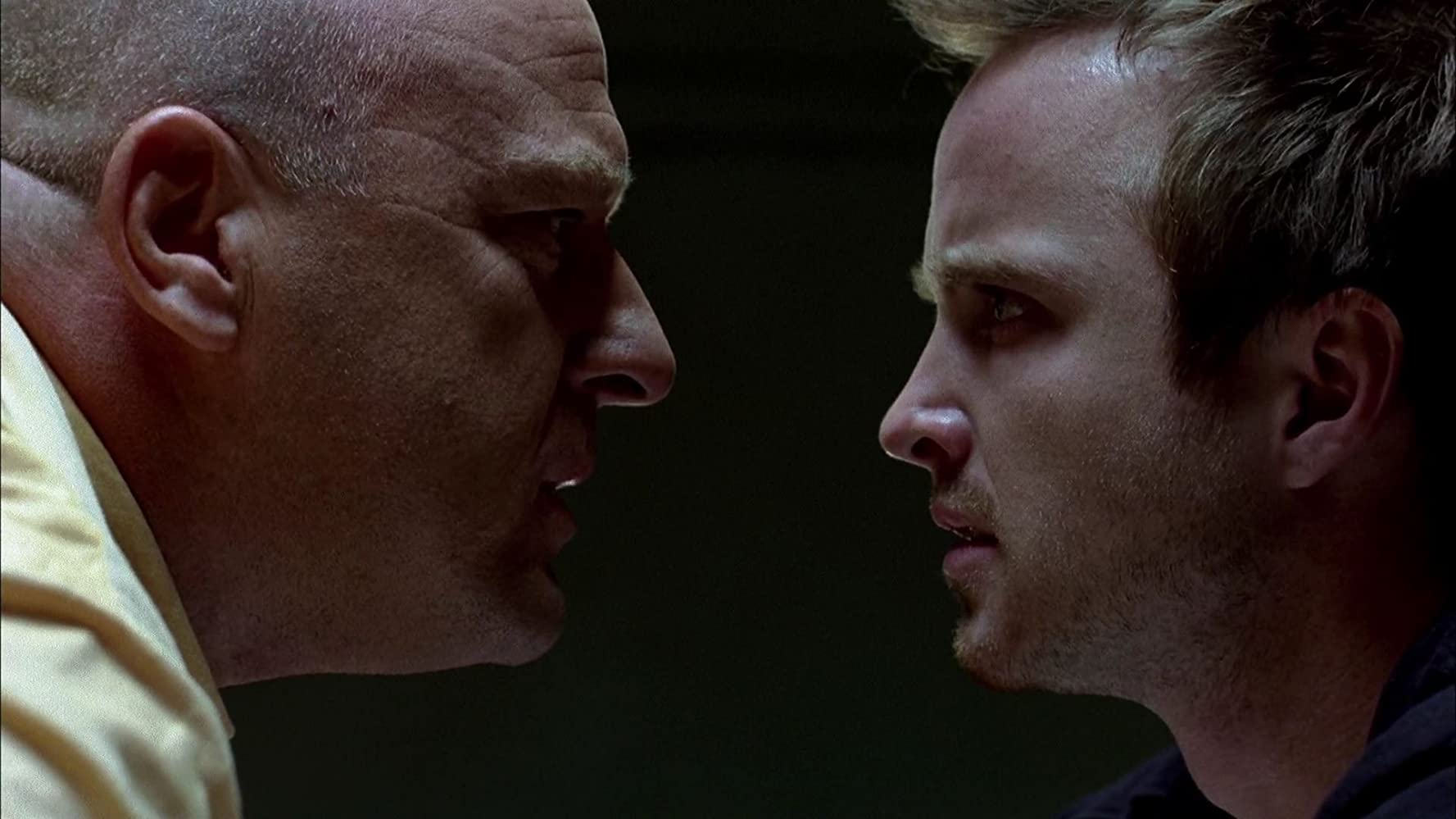 Dean Norris and Aaron Paul in Breaking Bad (2008)