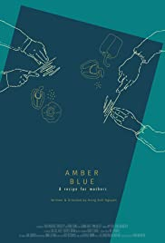 Amber Blue Poster