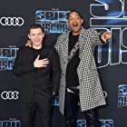 Will Smith and Tom Holland at an event for Spies in Disguise (2019)